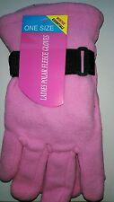 One Size Winter Essentials Ladies Polar Fleece Gloves in Pink