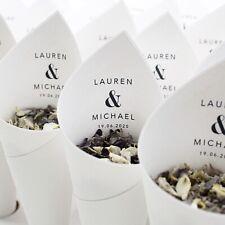 Wedding confetti cones personalised. Elegance style