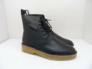 Clarks Men's Desert Mali 2 Boots Black Scotch Grain Size 10M