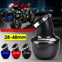 28mm-48mm 45° Filtro Aria Sportivo Conico Universale Per Moto Scooter Minimoto
