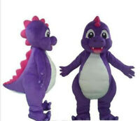 Purple Dinosaur Dragon Mascot Costume Suits Cosplay Party Game Dress Outfits Ad