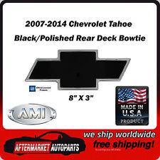 2007-2014 Chevrolet Tahoe Black/Polished Billet Bowtie Rear Emblem AMI 96093KP
