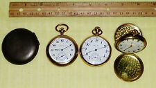 LOT Vintage Pocket Watches: 974 HAMILTON - 1899 ELGIN - GLYCINE - Antique Cover
