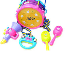 5Pcs Useful Baby Kids Roll Drum Musical Instrument Kit Children Educational Toy