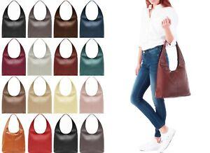 Handbag Bliss! Beautiful Soft Italian Leather Slouch Shoulder Bag Handbag Large
