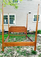 Vintage/antique Beautiful 4 Post Pencil Shaker colonial Style Cherry Queen BED