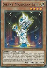 YU-GI-OH CARD: SILENT MAGICIAN LV4 - LDK2-ENY14 - 1st EDITION