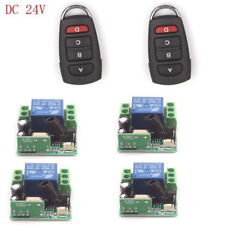24V 10A Relay Car-key wireless ON/OFF Transmitter+4 Receive Door LED Control Kit
