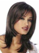wigs Élégant Femme brun long droit Cosplay perruque de cheveux de fête