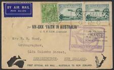 Australia New Zealand 1934 First Flight Sydney To Christchurch W/First Australia