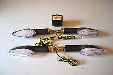 SET OF 4 LED E MARKED INDICATORS WITH 2 PIN LED RELAY FOR YAMAHA TDM850 18 LEDS