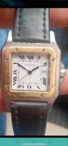 Nice cartier santos roman dial  automatic unisex wrist watch 34mm