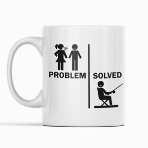 Problem Solved Fun Fishing Gift Mug