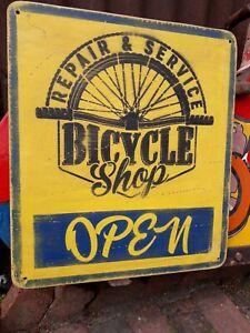 BICYCLE SHOP  SIGN RALEIGH TRIUMPH BIKE MANCAVE BUTCHER ENFIELD DUNLOP CHOPPER