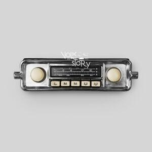 VINTAGE CLASSIC RADIO VW VOLKSWAGEN BEETLE AUX / USB / BLUETOOTH IVORY