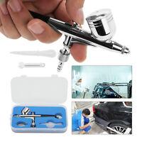 Dual Action Airbrush Metal Air Brush Kit Spray Gun 0.5mm Paint Tattoo Tool UK