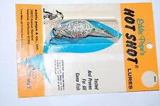 rare old eddie pope's pope hot shot lures approx m300 white met crankbait lure