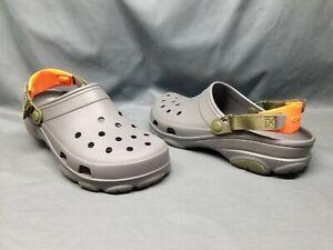 Crocs Men's Classic All Terrain Clog Slip-On 206340-0IE Gray Green Size 10 NEW!