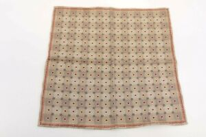 NWT Brunello Cucinelli Men 100% Silk Multi-Geometric + Dot  Print Pocket Sq A191