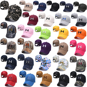 Camouflage Embroidered Under Armour Logo Adjustable Baseball Cap Sports Golf Hat