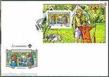NIGER  2015 BATTLE AGAINST MALARIA S/SHEET WITH RED CROSS EMBLEM FIRST DAY COVER