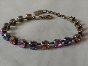 Bracelet by Pees, Swarovski Purple Blush Crystal Stones Made in Germany