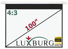 "Luxburg® 100"" 203x152 cm Full HD Electric Motorised Projector Projection Screen"