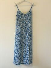 TOPSHOP MATERNITY, UK size 8, BNWT, blue & white floral print, maxi dress.