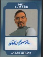 Phil Lamarr Bail Organa Autographed TOPPS Star Wars Card 13/25 112318DBCD