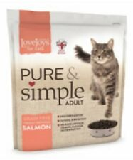 Lovejoys Pure & Simple Adult Complete Dry Cat food Grain Free Salmon 1.5KG