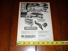 1967 SHELBY PARTS WIN AT SEBRING JERRY TITUS - ORIGINAL VINTAGE AD