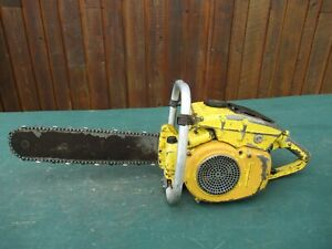 """Vintage MCCULLOCH D6009 Chainsaw Chain Saw with 16"""" Bar"""
