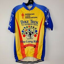 VOmax Bike Trek Cycling Jersey Shakertown Large End the Cycle of Lung Disease