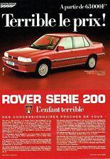 Publicité Advertising 037  1985  Austin Rover   la Rover série 200