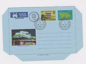 JERSEY CHANNEL ISLANDS 3 AEROGRAMME ENVELOPES 1979 AND 1980