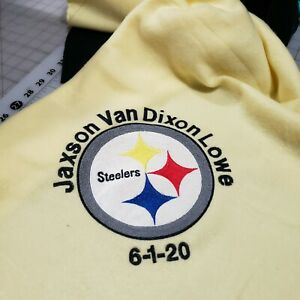 Personalized Embroidery Baby Blanket Steelers Logo