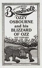 OZZY OSBOURNE / RANDY RHOADS / DEF LEPPARD 1981 TOUR PARAMOUNT THEATRE PROGRAM