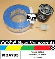FILTER SERVICE KIT for TOYOTA CORONA TT142 3T-EU 1.8L PETROL 01/82>10/83