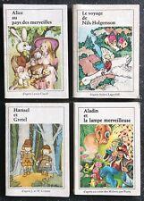 4 livres miniatures,  T1 des éditions Jacques Riquier 1976 Contes Pour Enfants.