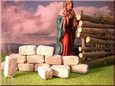 Krippenbau, 250 Ruinen Modellbau Steine für die Krippe Krippenzubehör