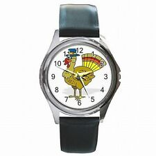 Thanksiving Turkey Holiday Leather Watch New!