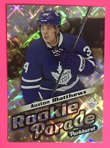 2016 Parkhurst Rookie Parade Auston Matthews RC Gold /99 Toronto Maple LeafsRP33