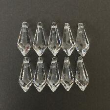 Swarovski Crystal Glass Drops x 10. Style 8611, 18 x 7.5 mm. Jewellery/Crafts.