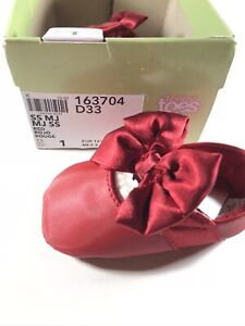 Teeny Toes Ballet Flats Crib Shoes Infant Girls Size 1