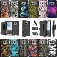 For Samsung Galaxy Note 8 SM-N950 Kickstand & Holster Combo Case - Camo