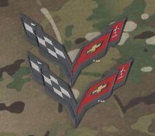 "Corvette Racing Team Super Sports Logo: CORVETTE RACING C-7 Iron-On 2-PC 5"" Set"