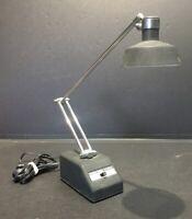 Small Vintage Mid Century Black & Chrome Adjustable Desk Lamp - Take N093 Bulb