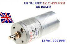 200 Rpm 12 V DC alto esfuerzo de torsión motor eléctrico & G/Caja-Traje De Arduino-Raspberry Pi