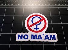 Married With Children Al Bundy NO MA'AM maam vinyl decal sticker tv show 80s 90s
