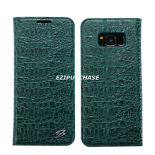 Crocodile Real Leather Flip Wallet Case Cover For Samsung Galaxy S8 Note 8 S001
